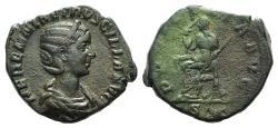 Ancient Coins - Herennia Etruscilla. Augusta, AD 249-251. Æ Sestertius. Rome mint. R/ PUDICITIA