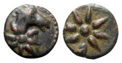 Ancient Coins - Pontos, Uncertain, c. 130-100 BC. Æ - Horse head / Comet star