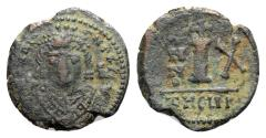 Ancient Coins - Maurice Tiberius (582-602). Æ 10 Nummi - Antioch, year 10
