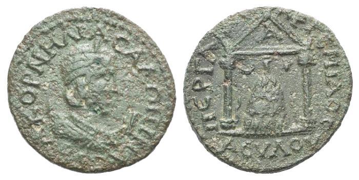 Ancient Coins - Pamphylia, Perga. Salonina (Augusta, 253-268). Æ 10 Assaria