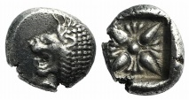 Ancient Coins - Ionia, Miletos, late 6th-early 5th century BC. AR Diobol
