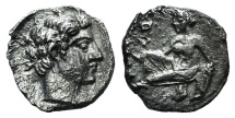 Ancient Coins - Cilicia, Tarsos. Tiribazos (Satrap of Lydia, 388-380 BC). AR Obol