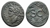 Ancient Coins - Domitian (81-96). Seleucis and Pieria, Antioch. Æ 24mm