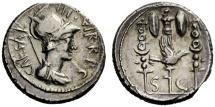Ancient Coins - C. Caesar Octavianus. Denarius, mint moving with Octavian 42. RARE