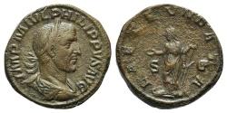Ancient Coins - Philip I. AD 244-249. Æ Sestertius R/ LAETITIA