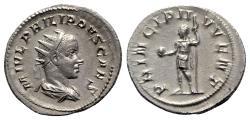 Ancient Coins - Philip II (Caesar, 244-247). AR Antoninianus. Rome, AD 246.