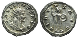 Ancient Coins - Gallienus (253-268). AR Antoninianus. Antioch, 266-8. R/ VIRTUS