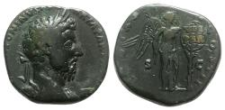 Ancient Coins - Marcus Aurelius (161-180). Æ Sestertius - Rome - R/ Victory