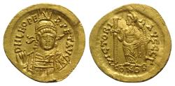 Leo I (457-474). GOLD Solidus. Constantinople, AD 462 or 466. R/ VICTORY