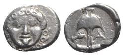 Ancient Coins - Thrace, Apollonia Pontika, late 5th-4th centuries BC. AR Drachm