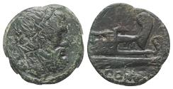 Ancient Coins - ROME REPUBLIC Anonymous, unofficial series (?), after 211 BC. Æ Semis