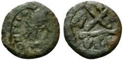 Ancient Coins - Phocas (602-610). Æ 10 Nummi. Ravenna, 608/9.  R-A/VEN. VERY RARE
