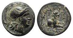 Ancient Coins - Kings of Thrace, Lysimachos (305-281 BC). Æ (14mm, 2.61g, 12h). Lysimacheia.