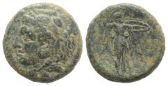 Ancient Coins - Sicily, Syracuse. Pyrrhos (278-276 BC). Æ Litra