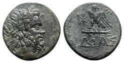 Ancient Coins - Bithynia, Dia, c. 85-65 BC. Æ - Zeus / Eagle