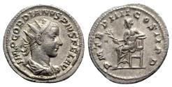 Ancient Coins - Gordian III (238-244). AR Antoninianus - Rome - R/ Apollo seated