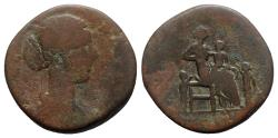 Ancient Coins - Lucilla (Augusta, 164-182). Æ Sestertius - Rome - R/ Fecunditas