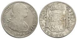 World Coins - Mexico, Carlos IV (1788-1808). AR 8 Reales 1793 FM, Mexico City