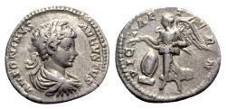 Ancient Coins - Caracalla (198-217). AR Denarius - Rome - R/ Victory