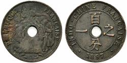 World Coins - French Indochine (Indochina), 1 Cent 1897. KM 8. Good EF