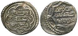 Ancient Coins - ILKHANS. Abu Sa'id, (AH 716-736 / AD 1316-1335), AR 2 dirhams, Tabriz mint, AH 719.