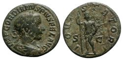 Ancient Coins - Gordian III (238-244). Æ As - Rome - R/ Jupiter