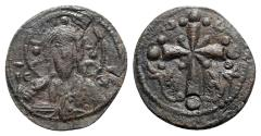 Ancient Coins - Anonymous, time of Nicephorus III (1078-1081). Æ 40 Nummi - Follis. Constantinople. Bust of Christ Pantokrator
