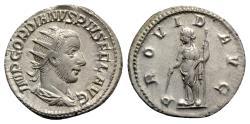 Ancient Coins - Gordian III (238-244). AR Antoninianus - Rome - R/ Providentia