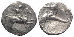 Ancient Coins - Southern Apulia, Tarentum, c. 302-280 BC. AR Nomos