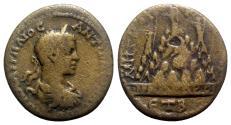 Ancient Coins - Elagabalus (218-222). Cappadocia, Caesarea. Æ - year 2