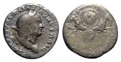 Ancient Coins - Divus Vespasian (died AD 79). AR Denarius - Rome - R/ Capricorns