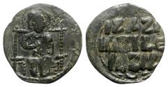 Ancient Coins - Anonymous, time of Constantine IX (1042-1055). Æ 40 Nummi
