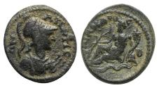 Ancient Coins - Phrygia, Apameia, c. 2nd century AD. Æ - Athena / River-god