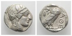 Ancient Coins - Attica, Athens, c. 454-404 BC. AR Tetradrachm. R/ OWL EXTREMELY FINE