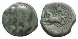 Ancient Coins - Celtic, Northeast Gaul. Remi, c. 100-50 BC. Æ
