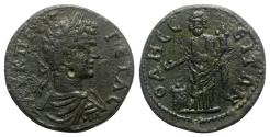 Ancient Coins - Geta (198-211). Moesia Inferior, Odessus. Æ - R/ The Great God of Odessus