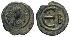 Ancient Coins - Justinian I (527-565). Æ 5 Nummi - Constantinople