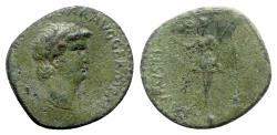 Ancient Coins - Nero (54-68). Thrace, Uncertain. Æ Semis - R/ Victory - RARE