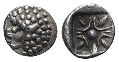 Ancient Coins - Eastern Celtic, imitating Miletos, c. 4th-5th century BC. AR Diobol