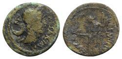 Ancient Coins - Julius Caesar, Rome, January-February 44 BC. Fourrèe Denarius. L. Aemilius Buca, moneyer.