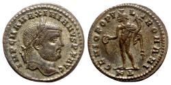 Ancient Coins - Maximianus (286-305). Æ Follis - Cyzicus - R/ Genius