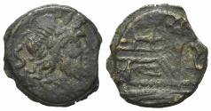 Ancient Coins - ROME REPUBLIC Anonymous, unofficial series (?), after 211 BC. Æ Semis  R/ PROW