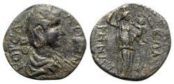 Ancient Coins - Salonina (Augusta, 254-268). Phrygia, Synnada. Æ - R/ Amaltheia