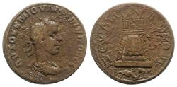 Ancient Coins - Philip II (247-249). Commagene, Zeugma. Æ 30mm R/ Tetrastyle temple