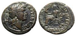 Ancient Coins - Phrygia, Cotieum, 3rd century AD. Æ - Diogenes, son of Dionysios, archon - R/ Zeus