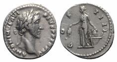 Ancient Coins - Antoninus Pius (138-161). AR Denarius - Rome - R/ Annona