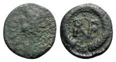 Ancient Coins - Ostrogoths, Theoderic (493-526). Æ 10 Nummi. Ravenna. R/ Monogram of Ravenna