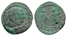 Ancient Coins - Maximianus (Senior Augustus, 305-307). Æ Follis - Aquileia