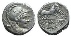 Ancient Coins - Rome Republic. Cn. Lentulus Clodianus, Rome, 88 BC. AR Denarius