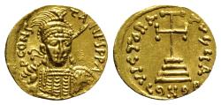 Ancient Coins - Constantine IV (668-685). AV Solidus. Constantinople, 681-685. EXTREMELY FINE